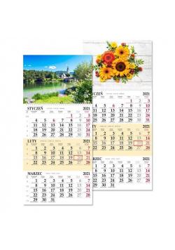 Kalendarz 2021 trójdziel. jednoplansz. SB7 MIX