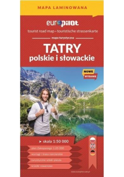 Mapa tur. - Tatry polskie i słowackie laminat
