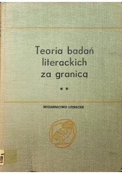 Teoria badań literackich za granicą