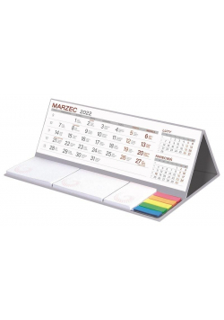 Kalendarz 2022 biurkowy z notesem MAXI szary