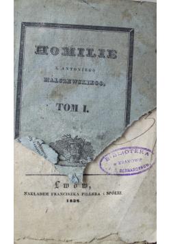 Homilie na całoroczne niedziele i święta uroczyste Tom I 1838 r.
