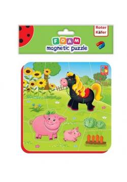 Miękkie magnetyczne puzzle Koń i Świnki