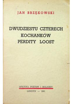 Dwudziestu czterech kochanków Perdity Loost