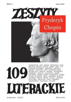 Zeszyty literackie 109 1/2010