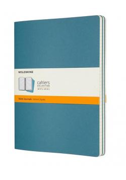 Zestaw 3 zeszytów Cahier Journals 19x25 linie blue