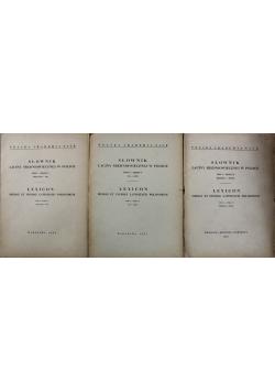 Słownik łaciny średniowiecznej w polsce 3 tomy