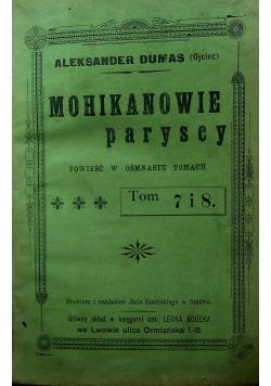Mohikanowie paryscy 5 tomów 1903 r