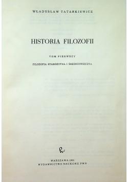 Historia filozofii Tom I