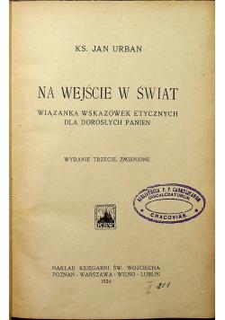 Na wejście w świat 1924r