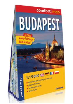 Budapeszt kieszonkowy laminowany plan miasta 1:15 000