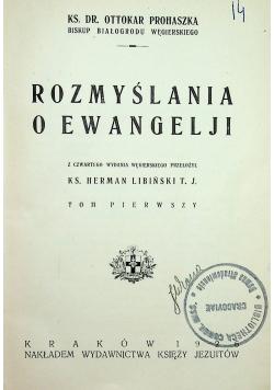 Rozmyślania o ewangelji 1926r