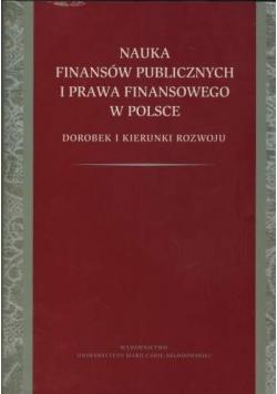Nauka finansów publicznych i prawa finansowego w Polsce