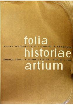 Folia historiae artium tom III