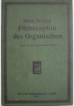 Philosophie des Organischen 1921 r.