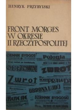 Front Morges W okresie II Rzeczypospolitej