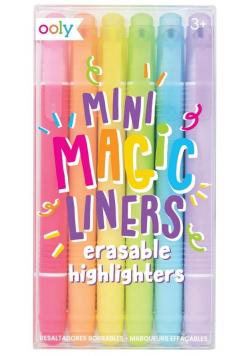 Zakreślacze wymazywalne Mini magic liners 6szt