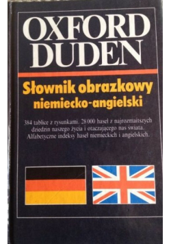 Oxford Duden Słownik obrazkowy niemiecko angielski