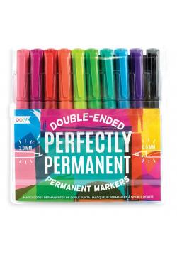 Flamastry trwałe Perfectly Permanent 10 kolorów