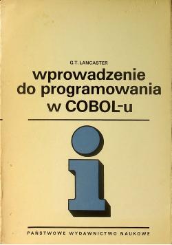 Wprowadzenie do programowania w COBOLu