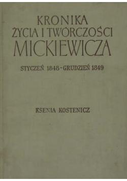 Kronika życia i twórczości Mickiewicza Styczeń 1848 Grudzień 1849