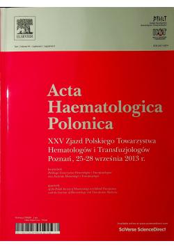 Acta haematologica Polonica