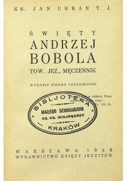 Święty Andrzej Bobola 1938 r miniaturka