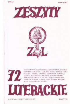 Zeszyty literackie 72 4/2000