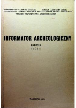 Informator Archeologiczny badania 1970