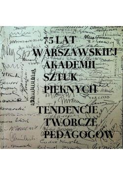 75 lat warszawskiej Akademii Sztuk Pięknych
