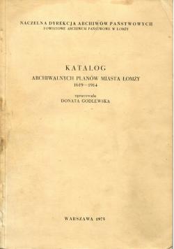 Katalog archiwalnych planów miasta Łomży