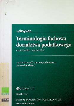 Terminologia fachowa doradztwa podatkowego część polsko niemiecka