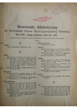 Dziennik Ustaw 1925 r
