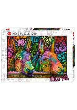 Puzzle 1000 Zakochane osły, Jelly Pets