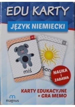 Edu karty Język niemiecki Karty edukacyjne + Gra Memo