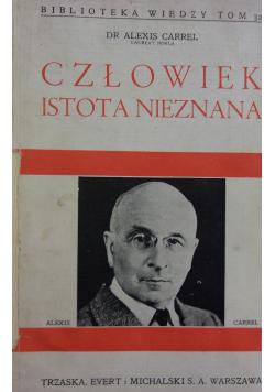 Człowiek istota nieznana 1938
