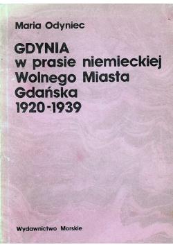 Gdynia w prasie niemieckiej Wolnego Miasta Gdańska 1920 - 1939