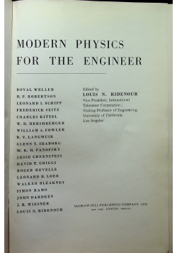 Modern Physics for the engineer