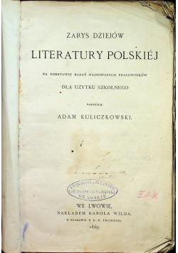 Zarys dziejów literatury polskiej 1896