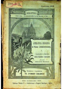 Literatura Religijna w Polsce  średniowiecznej I