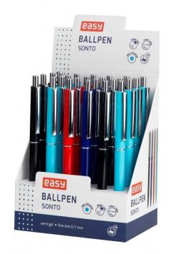Długopis automatyczny niebieski (24szt) EASY