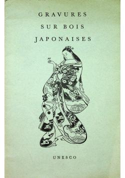 Gravures sur Bois Japonaises