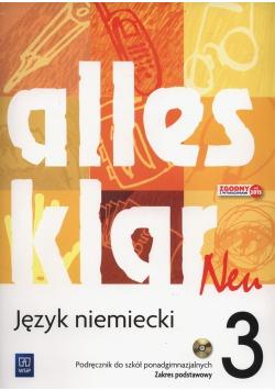 Alles klar Neu 3 Podręcznik Zakres podstawowy  plus  CD