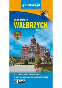Plan miasta - Wałbrzych 1:14 000