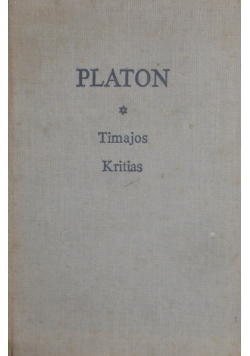 PLATON Timajos Kritias albo Atlantyk