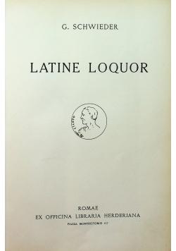 Latine Loquor