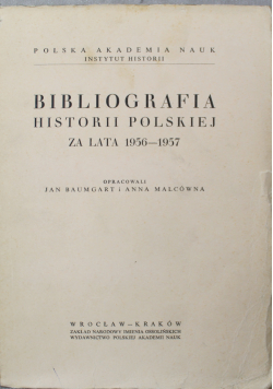 Bibliografia historii polskiej za lata 1956 do 1957