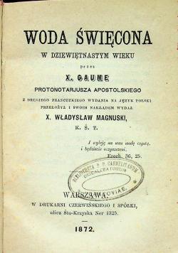 Woda święcona 1872 r