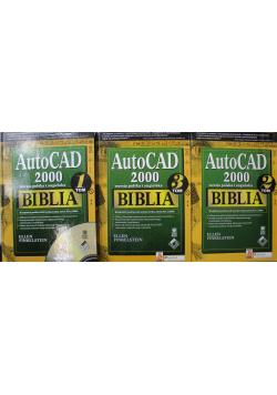 AutoCAD 2000 wersja polska i angielska Biblia 3 tomy