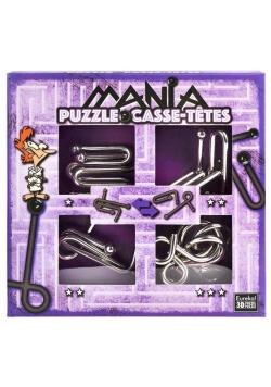 Łamigłówki metalowe 4 szt Puzzle mania fiolet G3