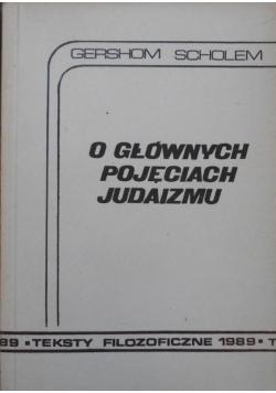 O głównych pojęciach Judaizmu